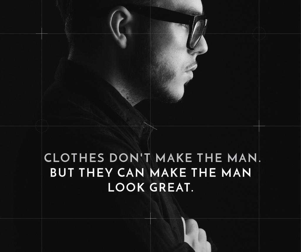Citation about a man clothes — Modelo de projeto