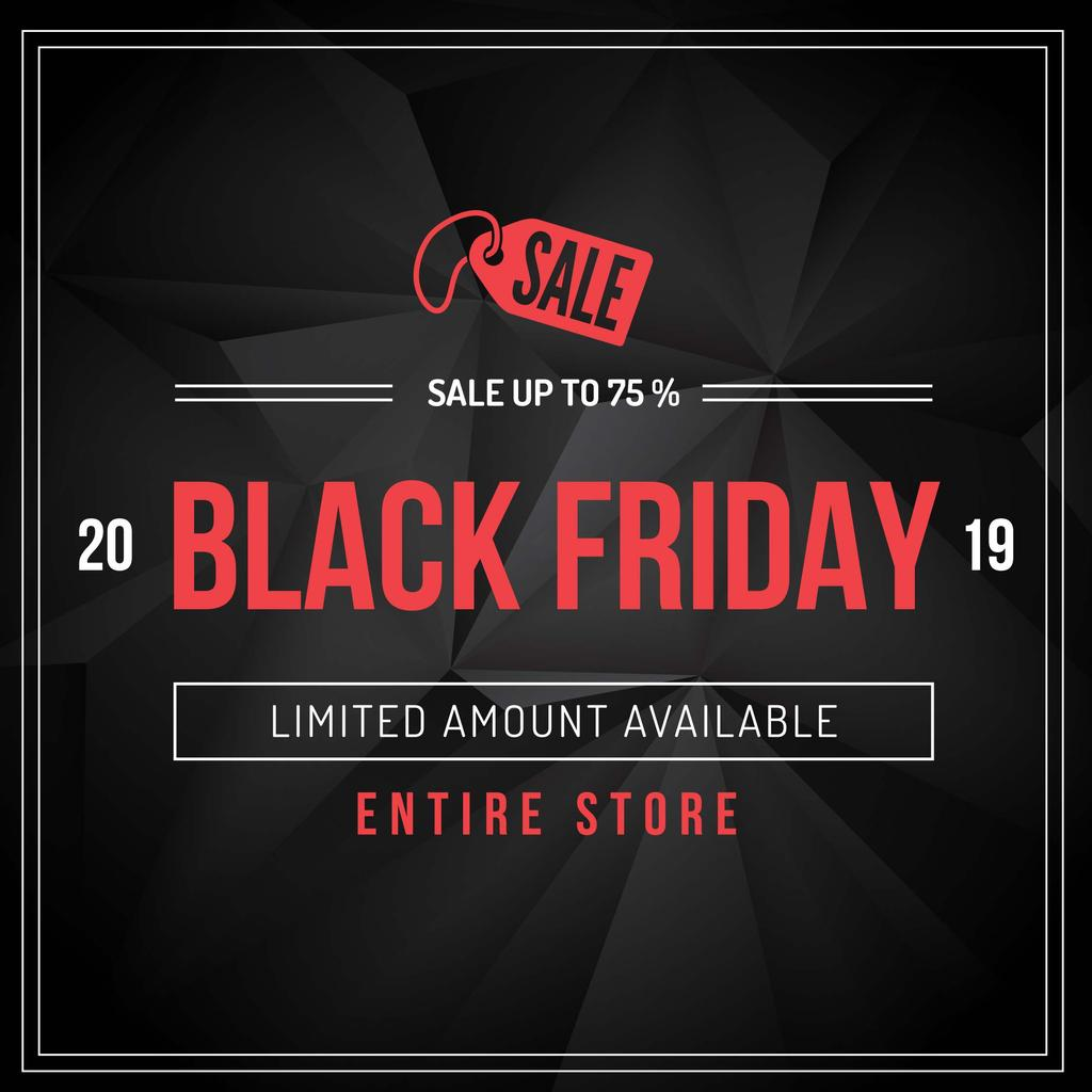 Black Friday sale advertisement — Создать дизайн