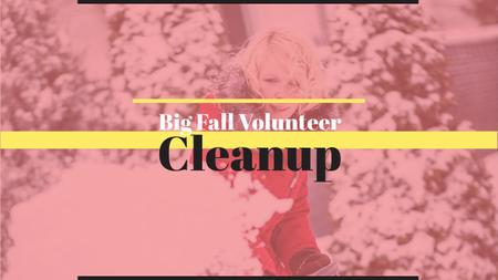 Ontwerpsjabloon van Youtube van Winter Volunteer clean up