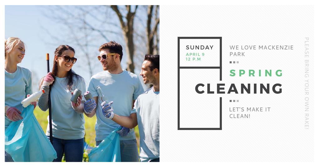 Modèle de visuel Spring Cleaning in Mackenzie park - Facebook AD