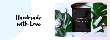 Natural cosmetic products Offer Facebook cover Modelo de Design