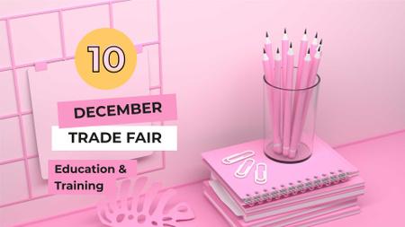 Education Fair announcement FB event cover Modelo de Design