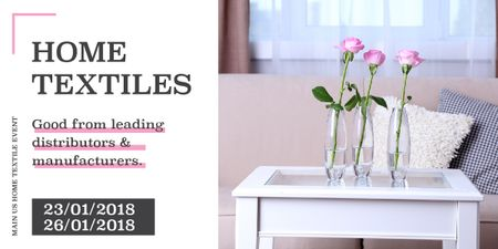 Home textiles event announcement roses in Interior Image – шаблон для дизайна