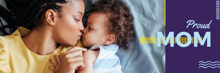 Ontwerpsjabloon van Email header van Happy Mother with Her Daughter