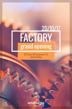 Factory Opening Announcement Mechanism Cogwheels | Tumblr Graphics Template