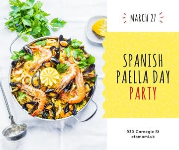 Spanish Paella party celebration