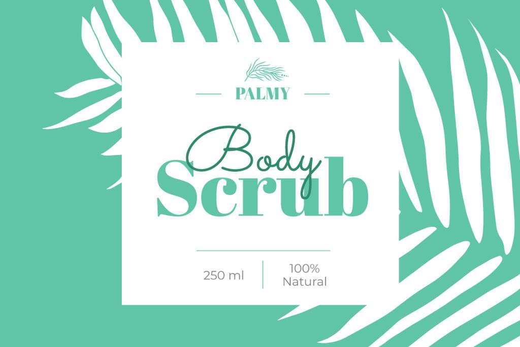 Modèle de visuel Body Scrub ad with palm leaf - Label