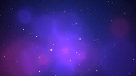 Plantilla de diseño de Floating Stars in Space Zoom Background