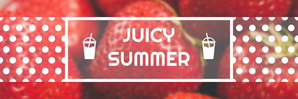 Summer Offer Red Ripe Strawberries — Maak een ontwerp
