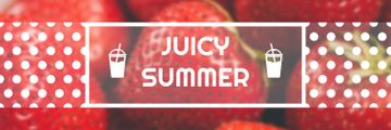 Summer Offer Red Ripe Strawberries | Twitter Header Template