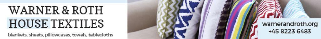 Home Textiles Ad Pillows on Sofa — Crea un design