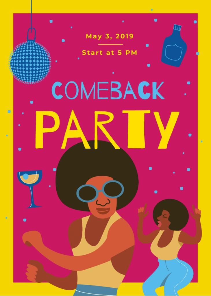 Comeback Party Invitation People Dancing at Disco | Flyer Template — Create a Design