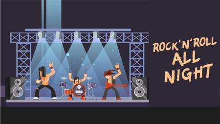 Plantilla de diseño de Rock band performing on stage Full HD video