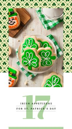 Ontwerpsjabloon van Instagram Story van Saint Patrick's Day cookies