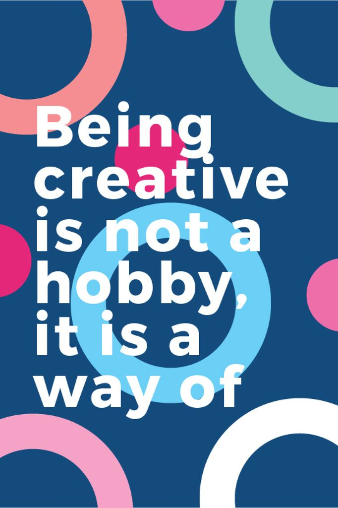 Citation about how to be a creative — Створити дизайн