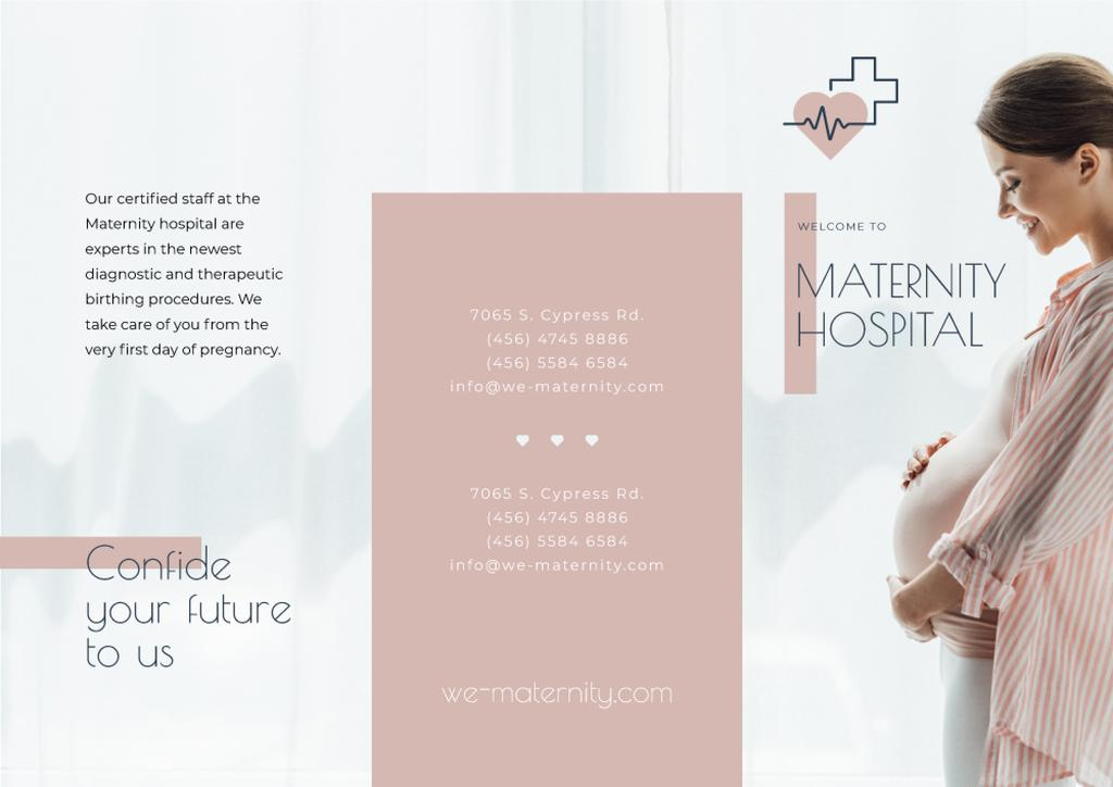 Maternity Hospital Ad with Happy Pregnant Woman — Create a Design