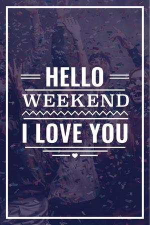 Template di design Weekend party with dancing people Pinterest
