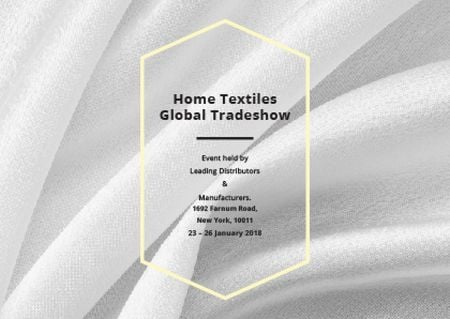 Home Textiles event announcement White Silk Postcardデザインテンプレート