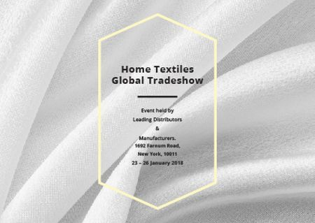 Home Textiles event announcement White Silk Postcard Modelo de Design