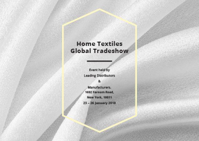 Designvorlage Home Textiles event announcement White Silk für Postcard