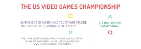 Modèle de visuel Video Games Championship announcement - Tumblr