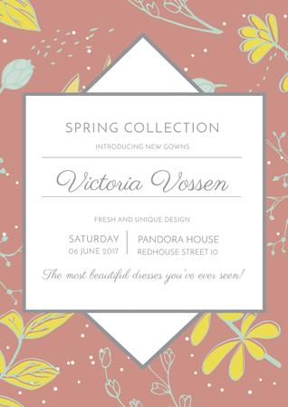 Plantilla de diseño de Fashion spring collection Ad Poster