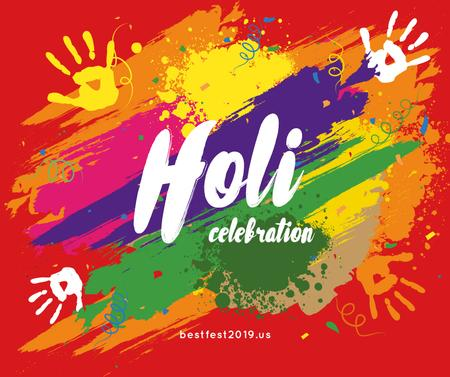 Indian Holi festival celebration Facebook – шаблон для дизайну