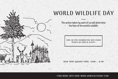 World wildlife day Gift Certificate – шаблон для дизайну