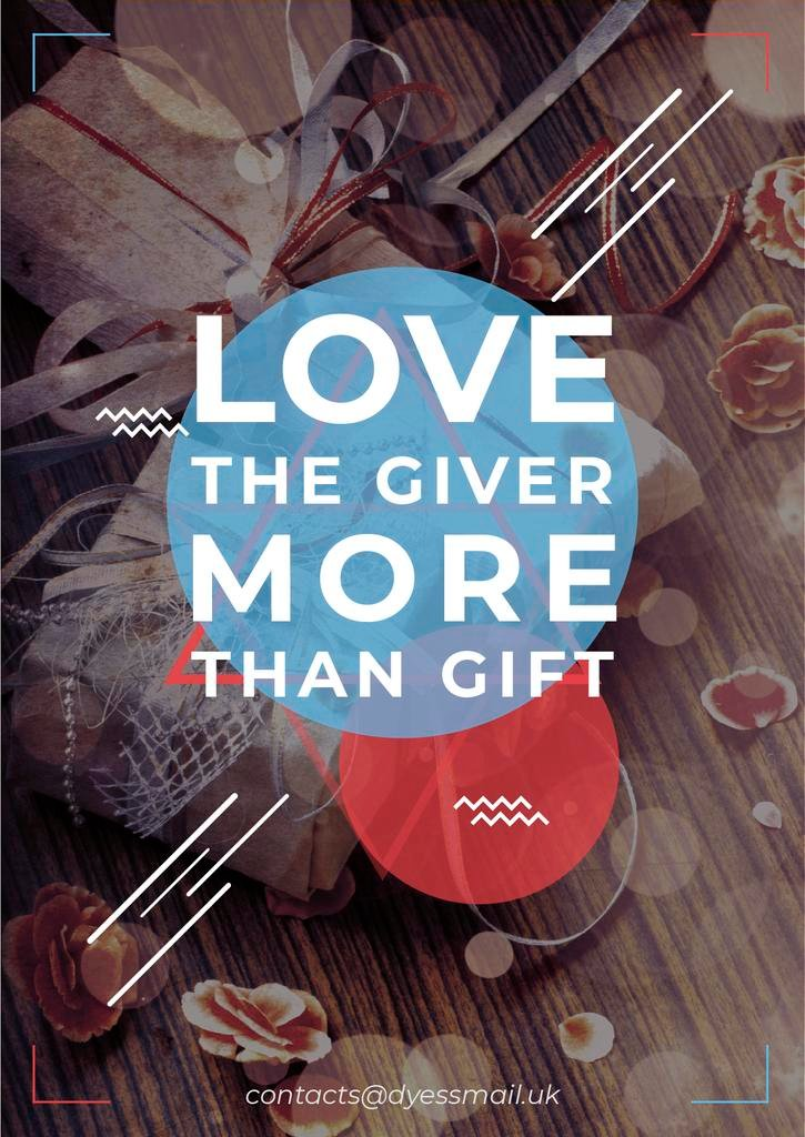 Love the giver more than gift Citation — Create a Design