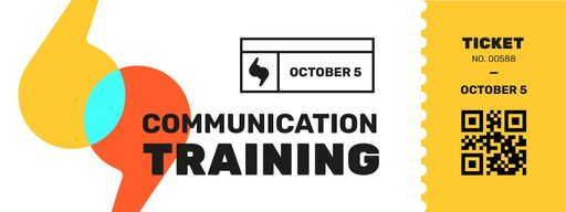 Communication Training With Colourful Brackets Tickets