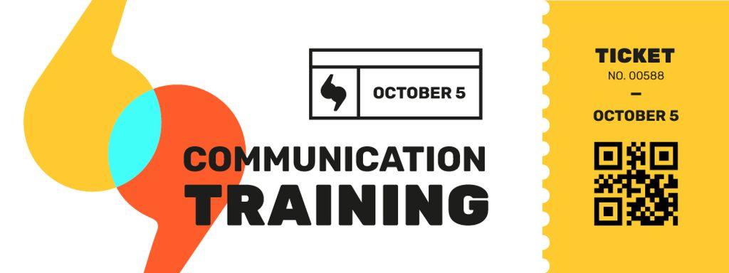 Designvorlage Communication Training with Colourful Brackets für Ticket