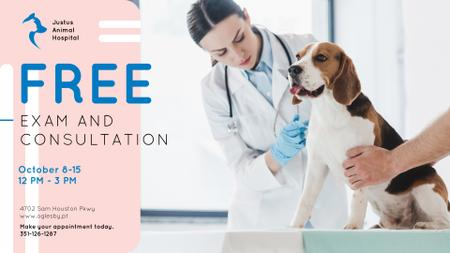 Modèle de visuel Vet Clinic Ad Doctor with Dog - FB event cover