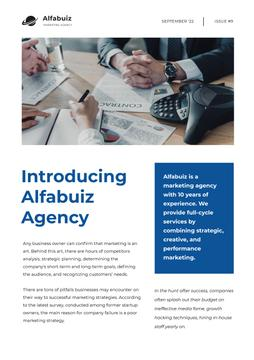 Marketing Agency Overview with Business team