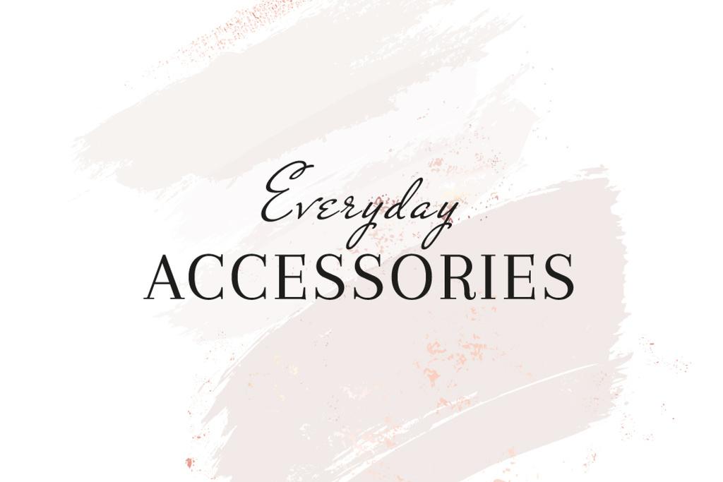 Template di design Accessories Brand ad on grey watercolor pattern Label