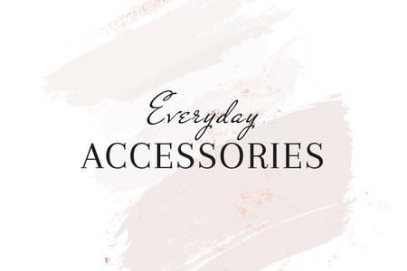 Accessories Brand ad on grey watercolor pattern Label – шаблон для дизайну