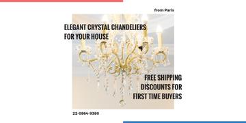 Elegant crystal chandeliers shop Offer