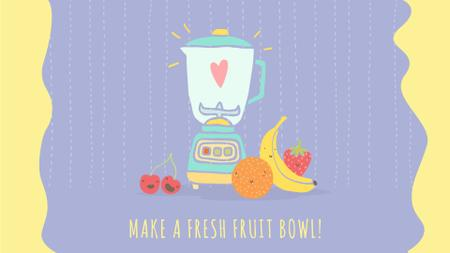 Ontwerpsjabloon van Full HD video van Healthy Food Raw Fruits by Kitchen Blender