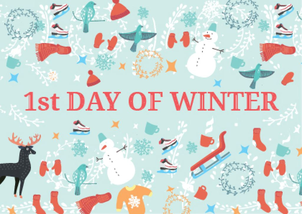 First day of winter with Winter Attributes — Crea un design