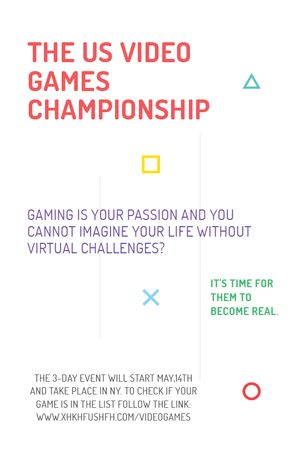 Template di design Video Games Championship announcement Tumblr