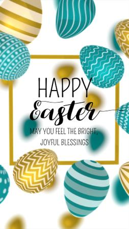 Happy Easter Day Greeting Instagram Video Story Modelo de Design