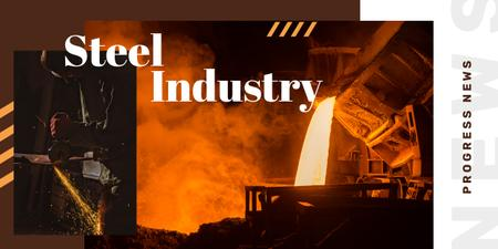 Man in metal workshop Image – шаблон для дизайна
