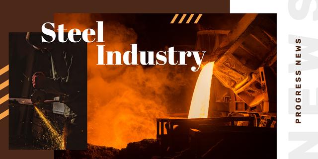 Man in metal workshop Image – шаблон для дизайну