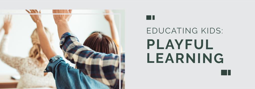 Education Program Students in Classroom — Create a Design