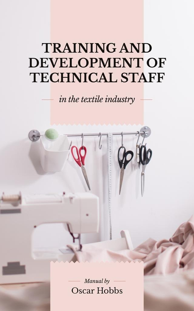 Textile Industry Sewing Studio Interior | eBook Template — Modelo de projeto