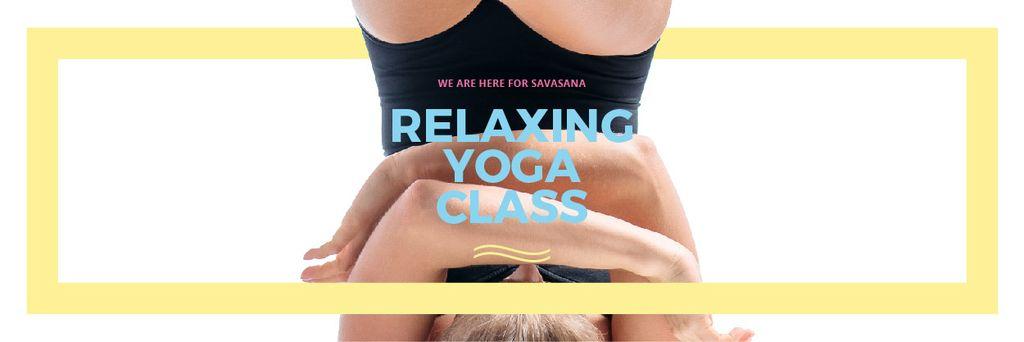 Relaxing yoga class — Créer un visuel