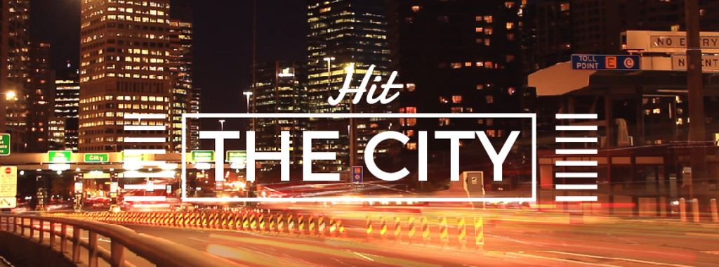 Night city traffic lights — Create a Design