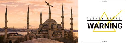 Turkey travel vacation poster Twitterデザインテンプレート