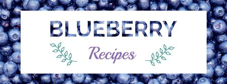 Raw ripe Blueberries recipes Facebook cover Tasarım Şablonu