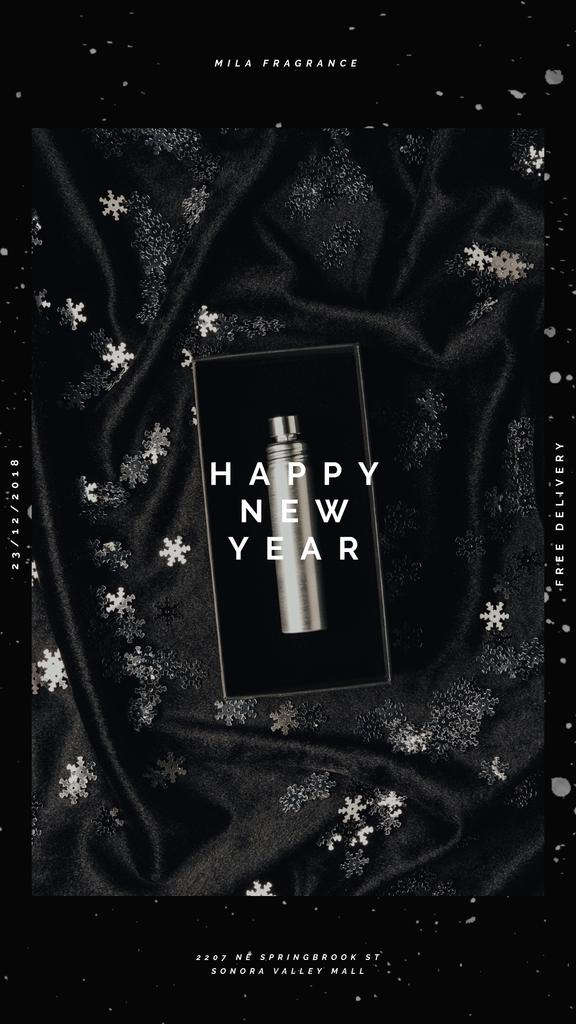 New Year Gift Box with Perfume Bottle | Vertical Video Template — Crear un diseño