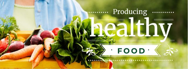 Producing healthy Food Facebook cover Design Template